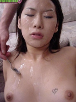Asian Miki facial cum shot